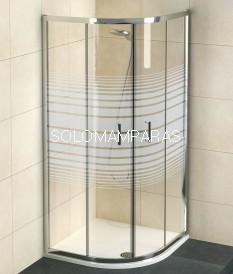 Mampara de ducha semicircular Niza con serigrafía