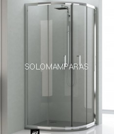 Mampara de ducha semicircular Niza transparente