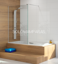 Fijo de bañera Kassandra, serie 300 (TR153) Hoja de bañera fija de 85cms con TRATAMIENTO ANTICAL (EASY CLEAN)