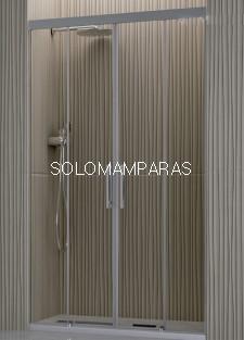 Mampara de ducha Támesis de Hidroglass (2 fijas + 2 correderas) 6 mm