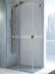 Mampara de ducha angular Sula -Kassandra- (SL603+SL603) transparente (Antical)