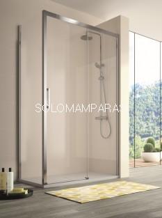 Mampara -Kassandra- 400 (CU607+CU602+CU103) (1 fija + 1 corredera) + 1 lateral fijo, transparente (Antical Easy Clean)