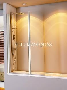 Mampara de bañera Athos - Hidroglass- 1 fijo + 1 abatible 6 mm + brazo sujeción a 45º