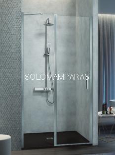Mampara de ducha Kassandra Nardi (NA503) Transparente (Antical Easy Clean) (fijo frontal + puerta abatible + perfil de cierre)