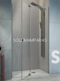 Mampara de ducha Kassandra Sula (SL603+SL602) Transparente (Antical Easy Clean) (1 fija + 1 abatible) con lateral fijo Opcional