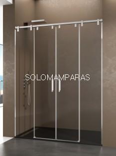 Mampara de ducha Futura Spazio -GME- (2 fijas + 2 correderas) antical