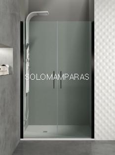Mampara de ducha Open Black de GME de 2 puertas abatibles (COMBI I)