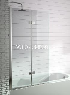 Hoja de bañera Kassandra, serie 300 (TR573). Frente de baño plegable + abatible de 90cms con TRATAMIENTO ANTICAL (EASY CLEAN)