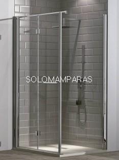 Mampara de ducha plegable Tarim (2 plegables) + 1 lateral fijo  6mm