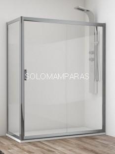 Mampara de ducha Esla (1 fija + 1 corredera + lateral fijo) 6 mm