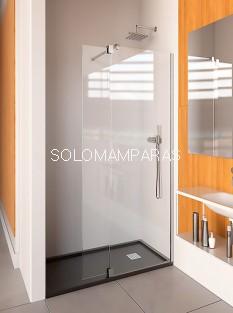 Mampara de ducha ST Orlando - Doccia - panel fijo + abatible. Fijo de 90 cm y hoja abatible de 30 cm