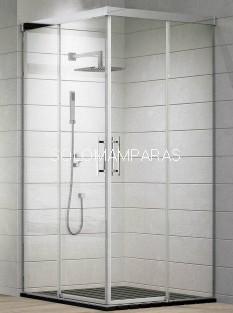 Angular de ducha Aire (2 fijas + 2 correderas) 6 mm