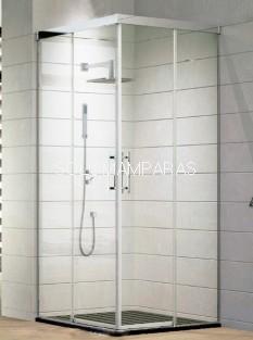 Angular de ducha Aire -Hidroglass- (2 fijas + 2 correderas) 6 mm