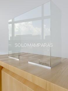 Separador de Oficina Vidrio 6mm con ventana y Laterales Protek 1400