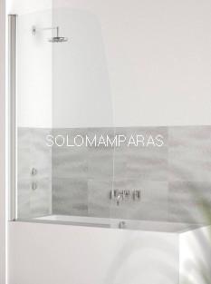 Hoja de bañera curva Milos (1 hoja abatible) 6 mm