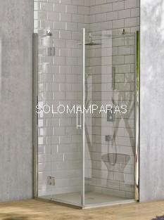 Angular de ducha Rabak -Hidroglass- (1 fijo continuo + 1 puerta abatible + 1 lateral fijo) 6 mm