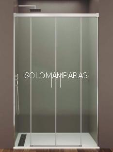 Mampara de ducha Basic Spazio -GME- (2 fijas + 2 correderas) antical y transparente