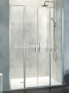 Mampara de ducha -Kassandra- Nardi (NA515) (2 fijos + 2 abatibles) Transparente (Antical Easy Clean)