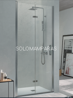 Mampara de ducha Kassandra Nardi (NA300) Transparente (Antical Easy Clean) (2 puertas plegables)