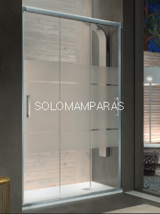 Mampara de ducha Kassandra Sabina (BN101 + BN103)  (Antical) 3 puertas correderas (con Lateral fijo Opcional)