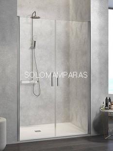 Mampara de ducha -Kassandra- Nardi (NA501) (2 puertas abatibles) Transparente (Antical Easy Clean)