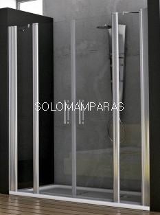Mampara de ducha Tulum (2 fijos + 2 abatibles) 6 mm
