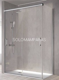 Mampara de ducha -Kassandra- Betty (BT111+BT103) (2 puertas correderas + 1 lateral fijo) Transparente o con Decorado Bali (Antical Easy Clean)