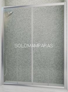 Mampara de ducha Genil (2 fijas + 2 correderas) 6 mm