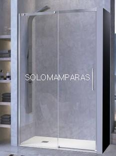 Mampara de ducha -Kassandra- Luna (LU102) 1 fija + 1 corredera,  8mm (antical Easy Clean)