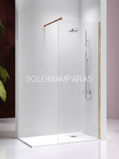 Fijo de ducha -Kassandra- Fresh (FR303) perfileria oro rosa, 8 mm (antical Easy Clean)