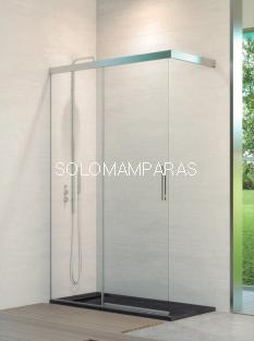 Mampara fija de ducha Sinaloa -Hidroglass- (fijo + corredera) 6mm