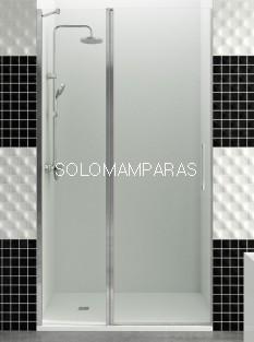 Mampara de ducha GME, Open fijo + puerta abatible, con cierre imán a pared (COMBI C)