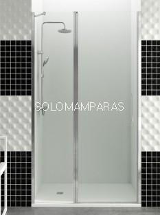 Mampara de ducha GME, Open fijo + puerta abatible, con cierre perfil imán (COMBI D)