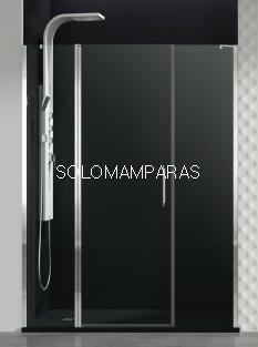 Mampara de ducha GME, Open,  fijo + puerta abatible + fijo (COMBI F)