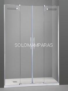 Mampara de ducha -GME- Vetrum Spazio (2 fijas + 2 correderas)