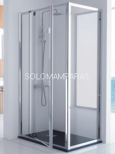 mampara ducha pivotante - Kassandra- Serie 300 (TR503+TR513) 1 fija + 1 abatible + lateral fijo (antical)