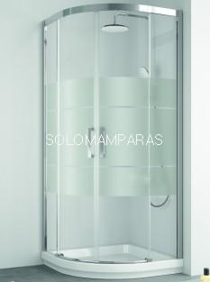 Mampara Kassandra Serie 400, Semicircular CU130-CU131 Dibujo Clio (Repele gotas Easy Clean)
