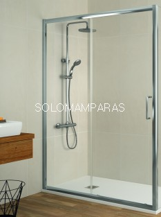 Frontal de ducha Mampara Bella de Kassandra, 1 fija + 1 corredera (BL102)
