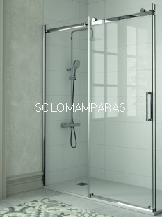 Mampara de Kassandra  Liberty (LI102) (1 fija+ 1 corredera) 8 mm acero Inox (antical Easy Clean)