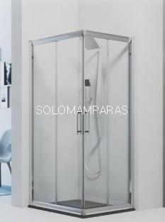 Angular de ducha Azores -Hidroglass- (2 fijas + 2 correderas) 6 mm