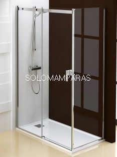 Mampara de ducha Ebro (1 fija + 1 corredera + 1 lateral fijo) 8 mm antical incluido