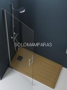 Mampara de ducha Milán (Puerta abatible abatible sin cierre)