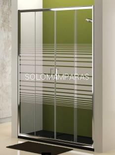 Mampara de ducha Niza (2 fijas + 2 correderas) con serigrafía