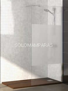 Mampara Rimini (Fijo de ducha) Cromo 8mm, Transparente o Serigrafía