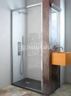 Mampara de ducha ST México - Doccia- 1 fija + 1 corredera.