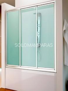 Mampara frontal de bañera Bali -Hidroglass- (3 correderas) acrílica de 2,2 mm