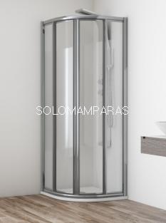 Mampara de ducha semicircular Orinoco -Hidroglass-  vidrio 4 mm