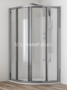 Mampara de ducha semicircular Orinoco vidrio 4 mm