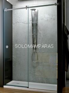 Mampara de ducha Oder de Hidroglass (1 fija + 1 corredera) Acero Pulido y vidrio 8 mm