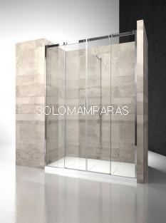Frontal ducha mampara Serie 8000 C4 - Vismara - 2 fijas + 2 correderas, 8mm